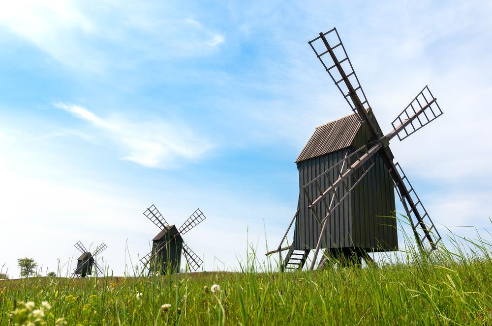 Wiatraki na wyspie Olandia